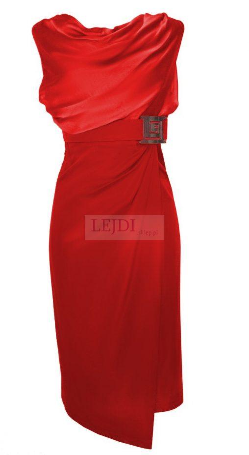 Wieczorowa sukienka do kolan, czerwona