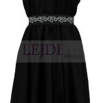 Wieczorowa sukienka z szyfonu na wesele, czarna