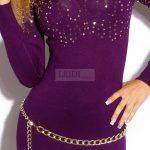 Dzianinowy sweterek w kolorze fioletowym