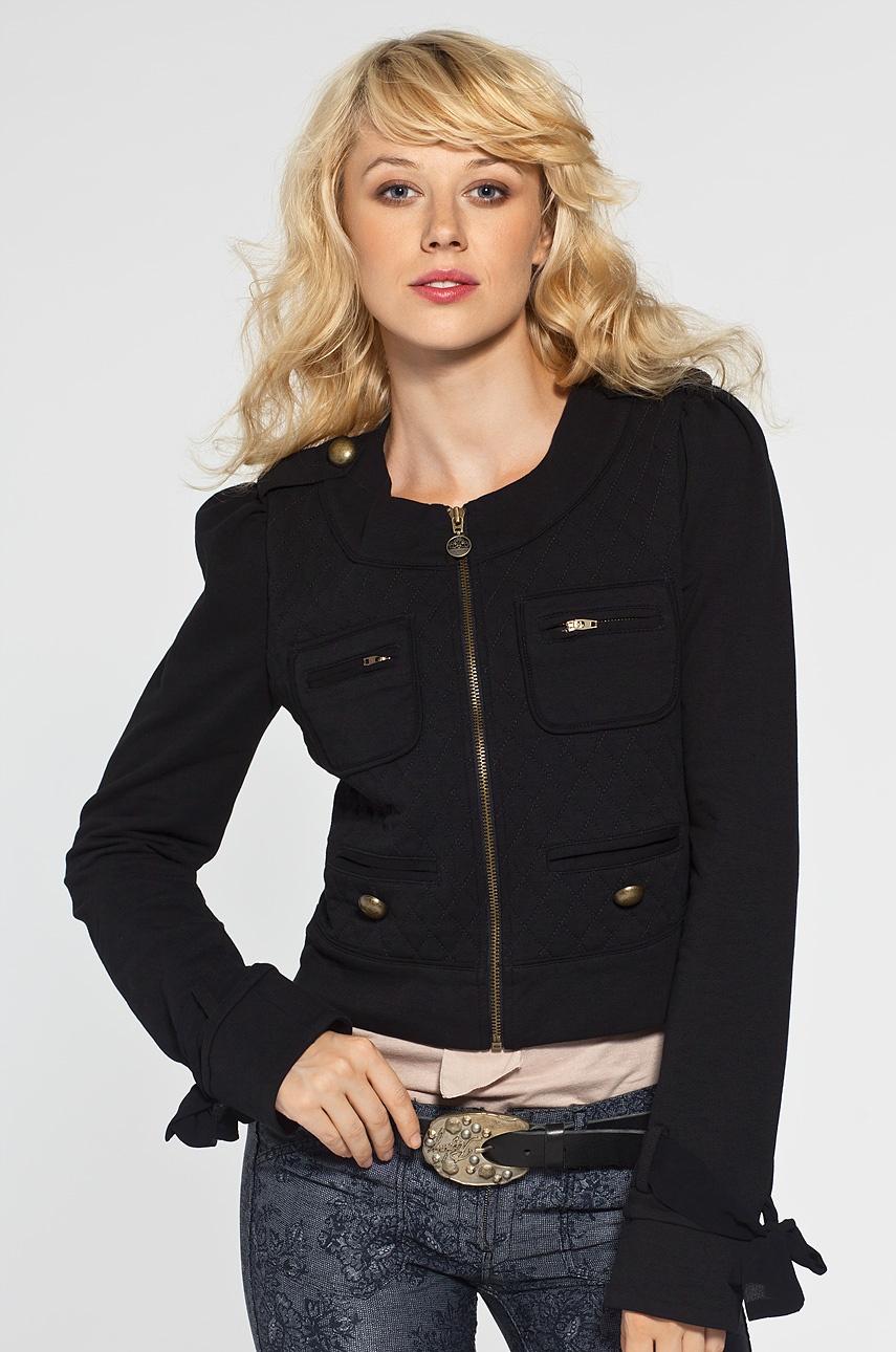 Jesienna kurtka młodzieżowa, czarna
