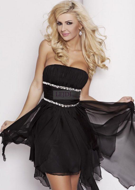 Czarna sukienka balowa na studniówkę
