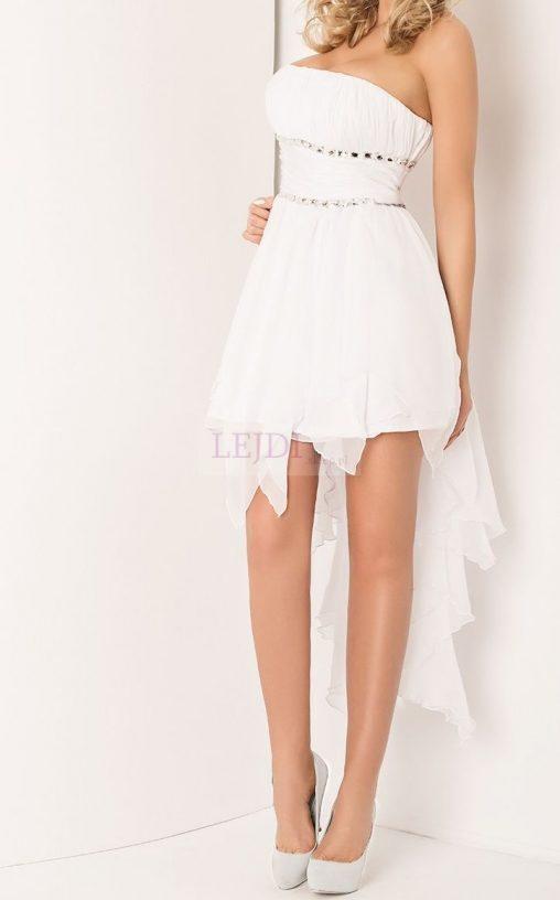 Biała sukienka balowa na studniówkę