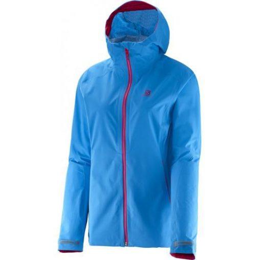 Super lekka, wodoszczelna oddychająca kurtka damska, niebieska