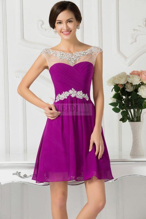 Sukienka z kryształkami na wesele, studniówkę, sylwestra