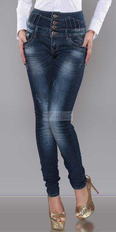 Jeansy z podwyższonym stanem damskie