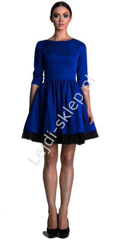 Sukienka z tiulem niebieska