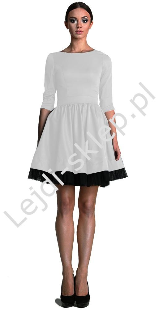 Sukienka z tiulem, biała