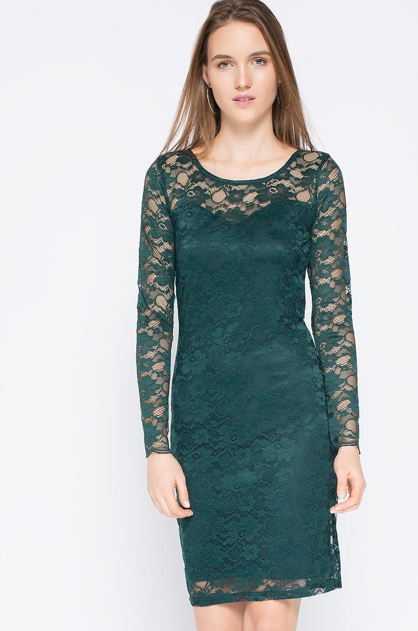 Koronkowa sukienka na wesele lub sylwestra, zielona