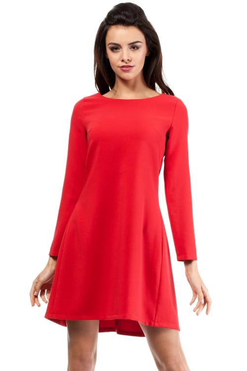 Luźna sukienka wizytowa czerwona