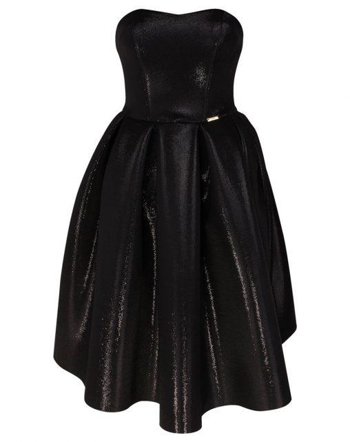 Wizytowa sukienka gorsetowa czarna