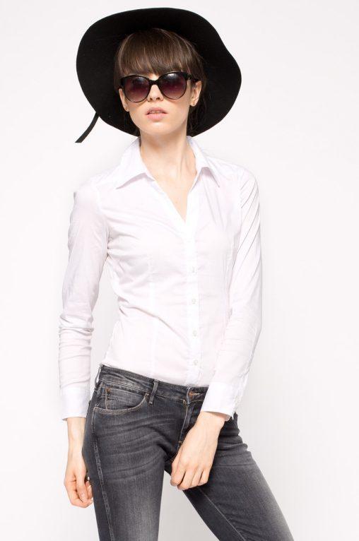 Elegancka biała koszula body