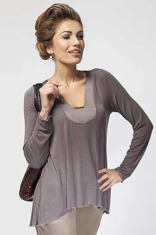Elegancka luźna bluzka damska do pracy