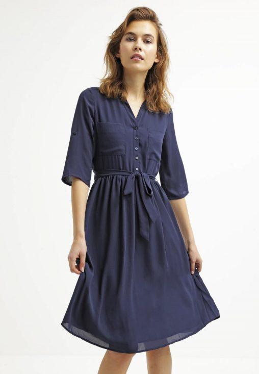Sukienka koszulowa granatowa