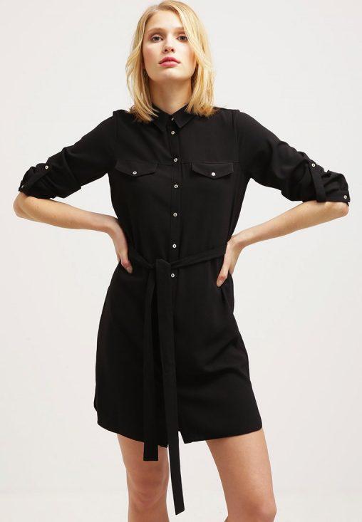 Elegancka sukienka koszulowa czarna