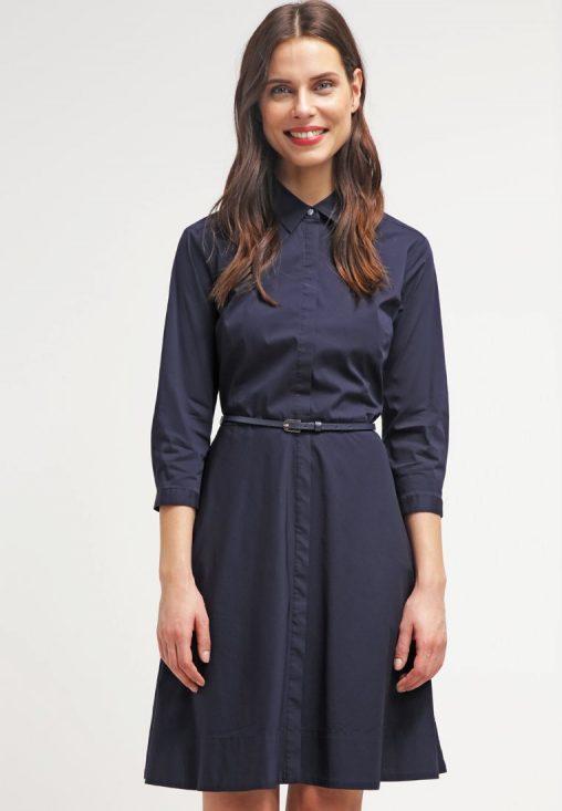 Elegancka sukienka koszulowa z paskiem
