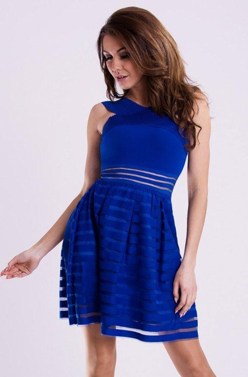 Letnia sukienka mini wizytowa niebieska