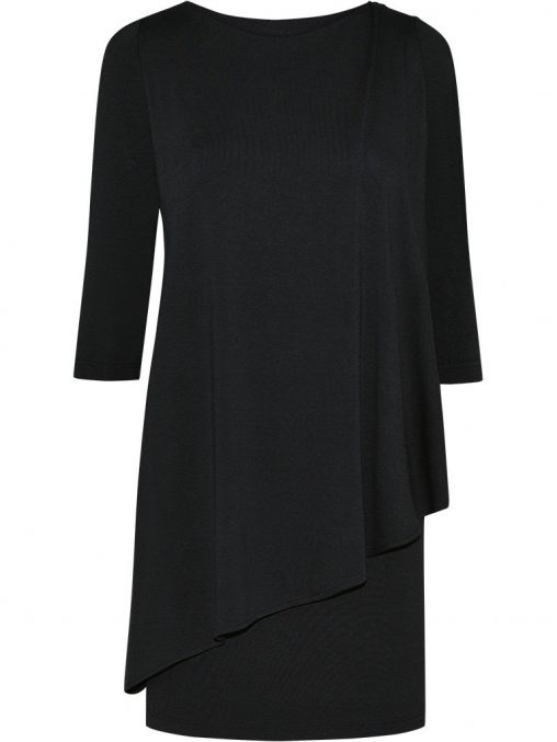 Elegancka tunika maskująca brzuch czarna