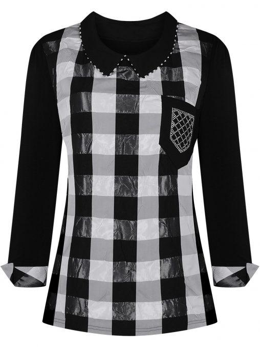 Elegancka bluzka damska z kołnierzykiem