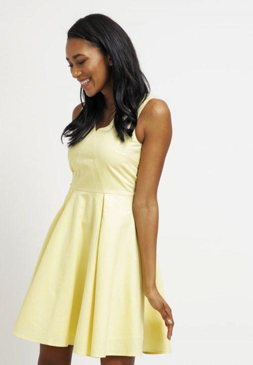 Bawełniana letnia sukienka żółta