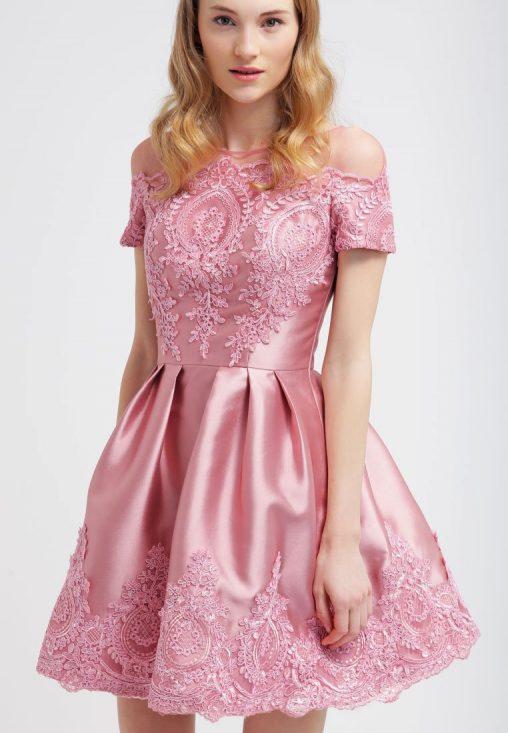 Sukienka koktajlowa na wesele różowa