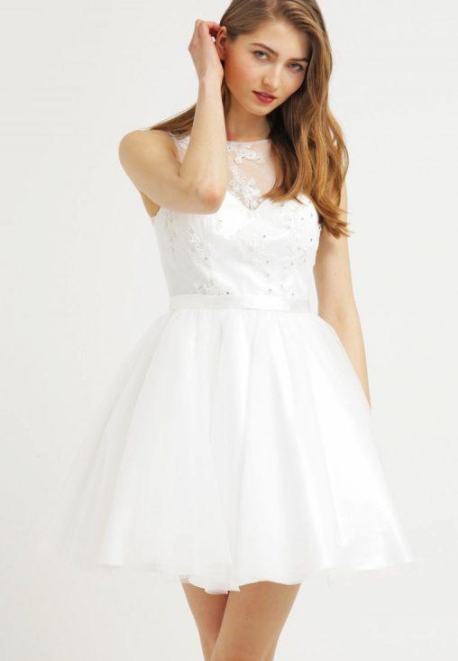 Sukienka koktajlowa na wesele biała