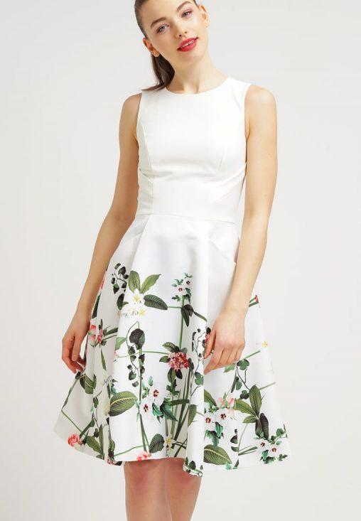 Letnia sukienka do kolan w kwiaty