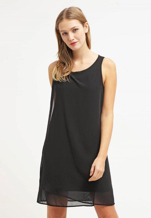 Letnia sukienka z szyfonu czarna