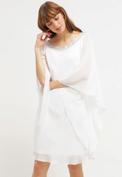 Luksusowa sukienka z szyfonu ecru