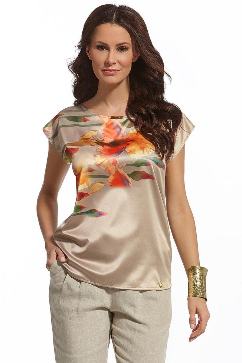 Elegancka satynowa bluzka damska