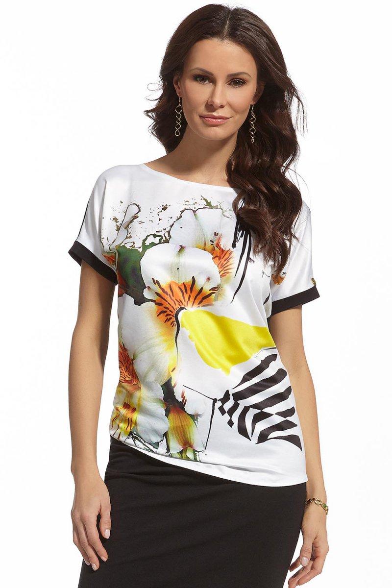Modna bluzka letnia motyw kwiatowy