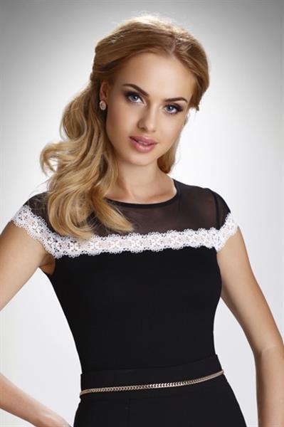 Elegancka bluzka damska krótki rękaw
