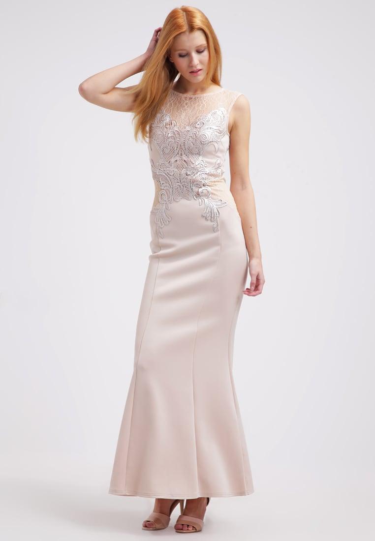 Długa wieczorowa suknia balowa nude