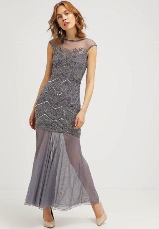 Długa wieczorowa suknia balowa transparentna
