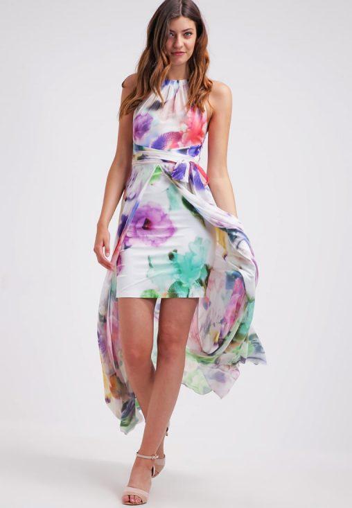Letnia sukienka na szyję kwiaty