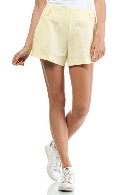 Krótkie spodenki szorty damskie wysoki stan żółte