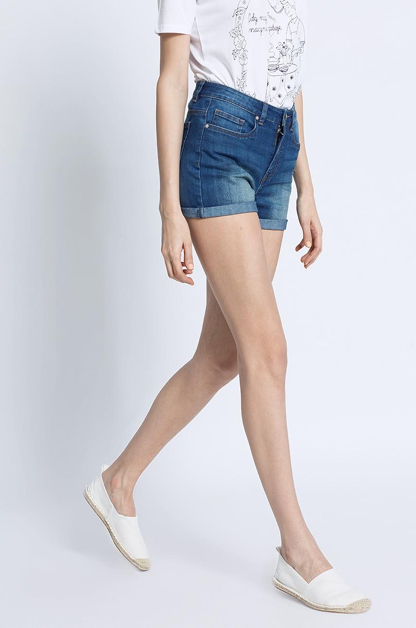 Krótkie spodenki jeansowe szorty damskie 4