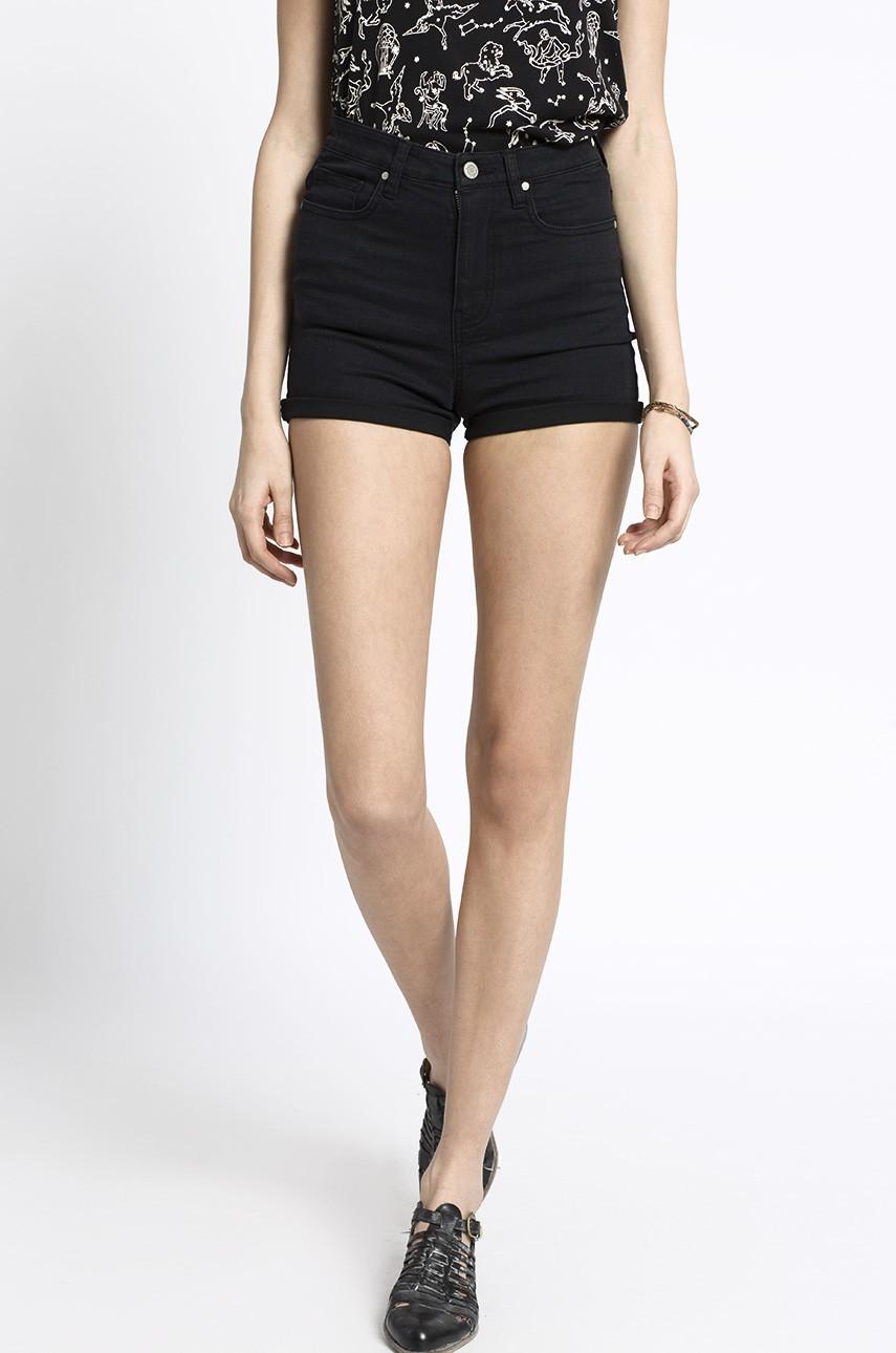 Krótkie spodenki jeansowe szorty damskie czarne