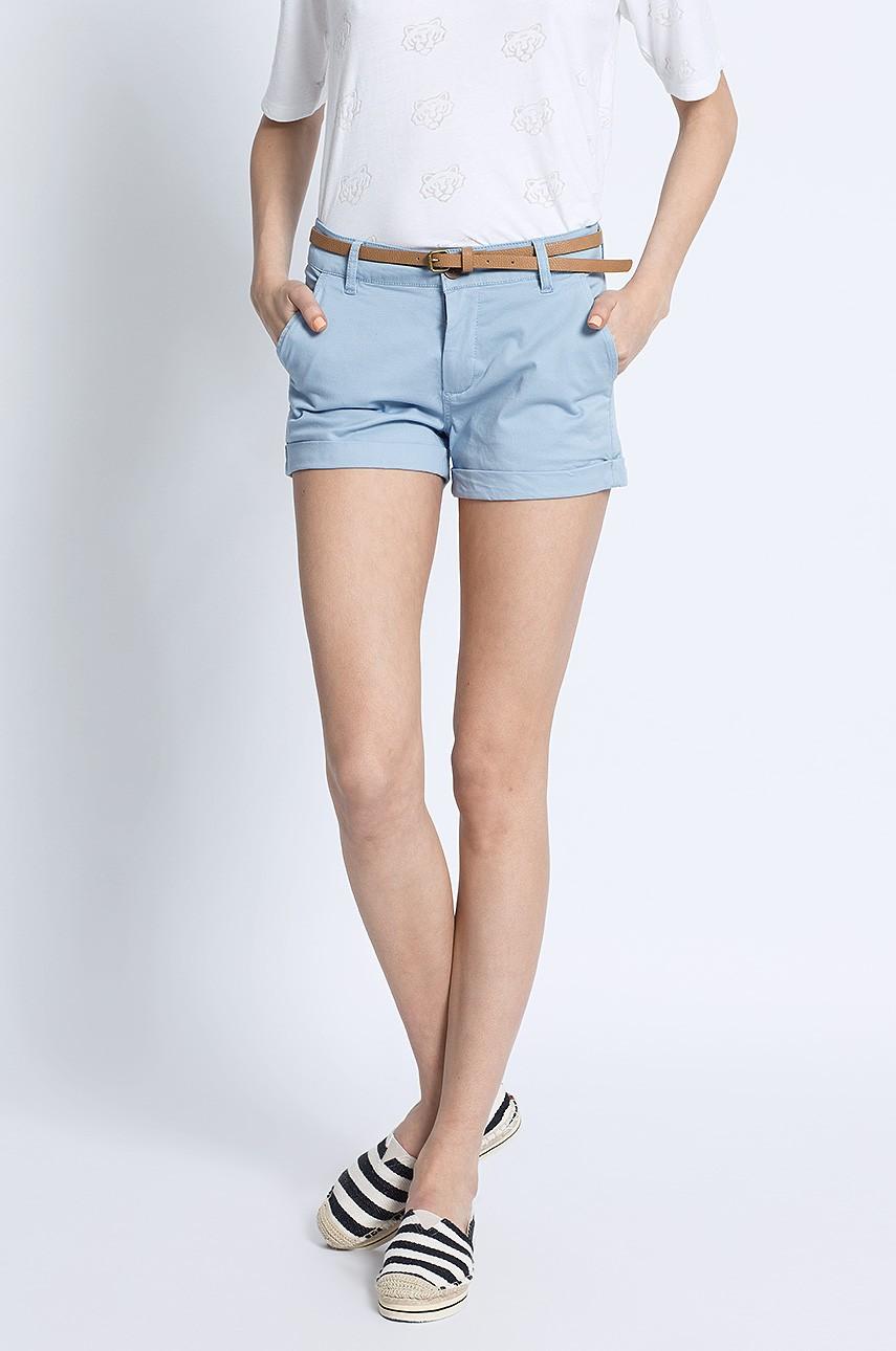 Krótkie spodenki szorty damskie niebieski