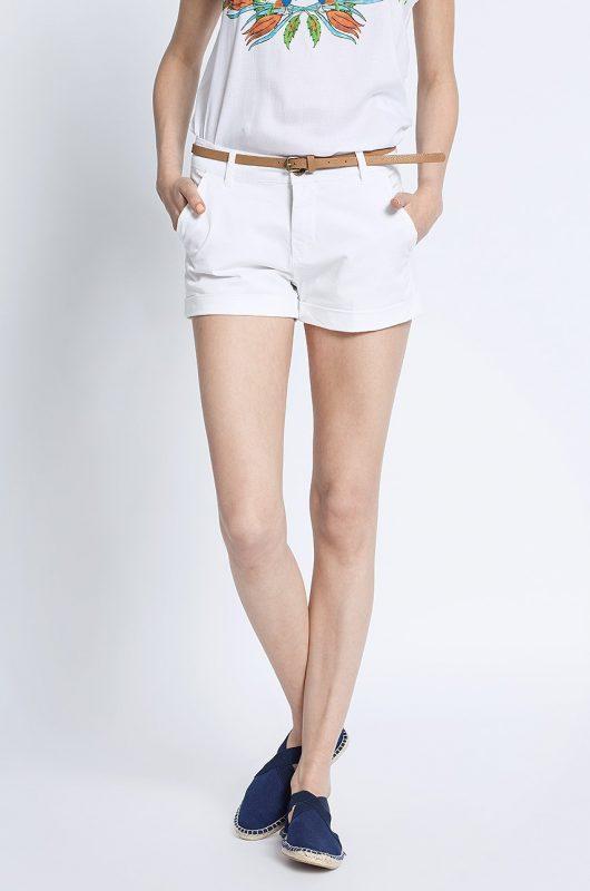 Krótkie spodenki szorty damskie białe