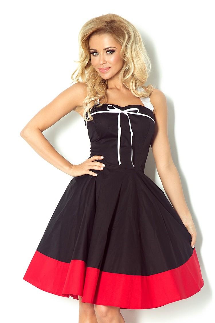Sukienka rozkloszowana na szyję wiązana na plecach czarna
