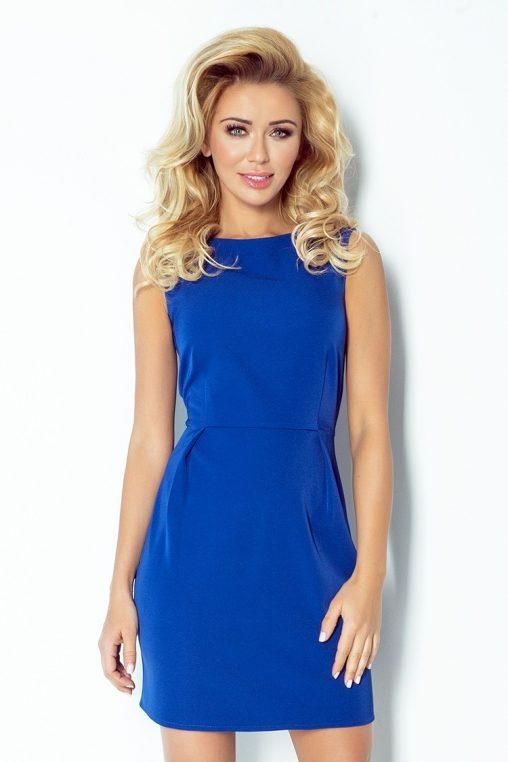 Klasyczna sukienka bez rękawów niebieska