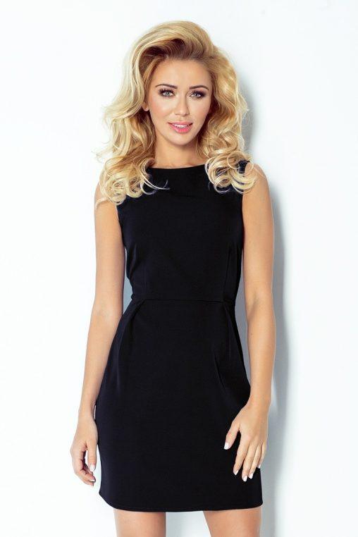 Klasyczna sukienka bez rękawów czarna