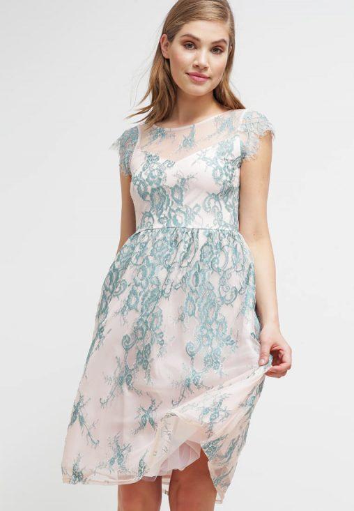 Letnia zwiewna sukienka midi do kolan