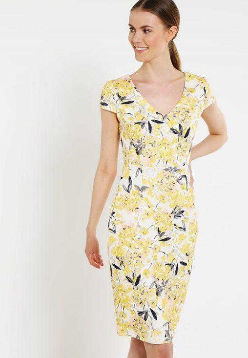 Letnia sukienka do kolan żółta
