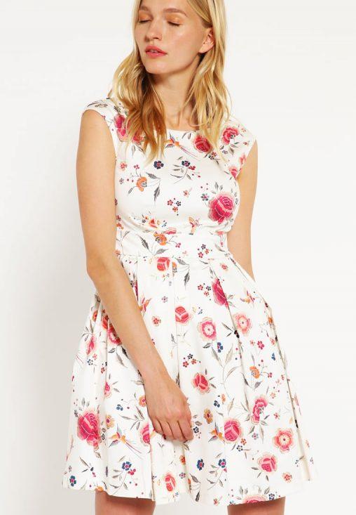Letnia sukienka mini w kwiaty