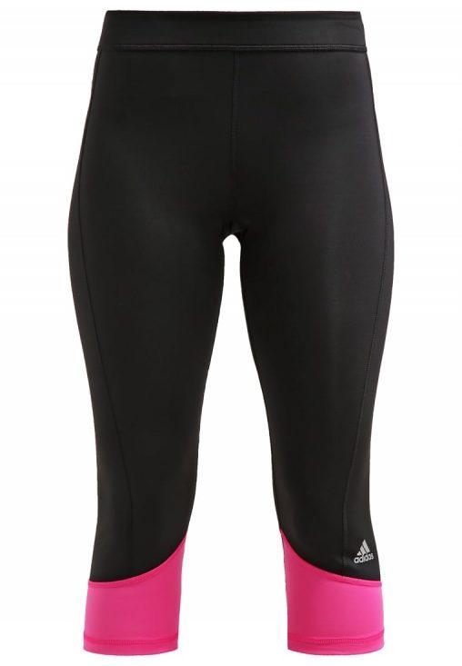 Legginsy fitness adidas ClimaLite czarne z różowym