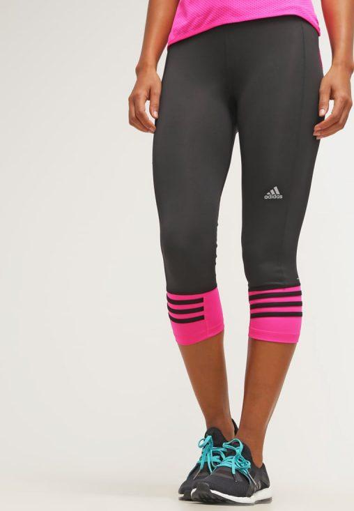 Legginsy fitness adidas performance czarne z różowym