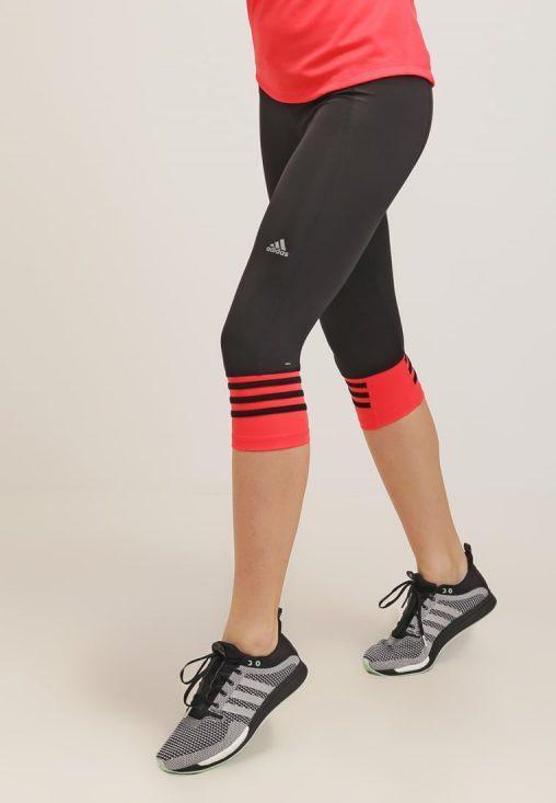 Legginsy fitness adidas performance czarne z czerwonym