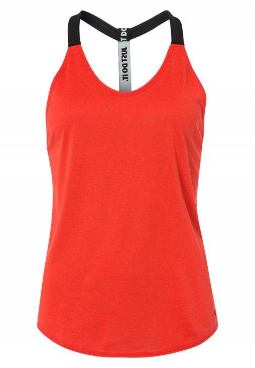 Bluzka Top Fitness Nike czerwona