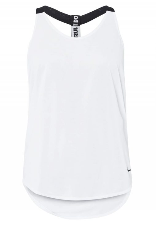 Bluzka Top Fitness Nike biała